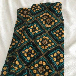 Lularoe leggings one size NWOT Yellow Teal Black S